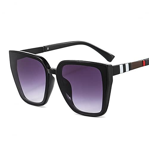 SXRAI Gafas de Sol para Mujer Gafas de Sol de Gran tamaño para Hombre Gafas de Moda Gafas rectangulares,C2