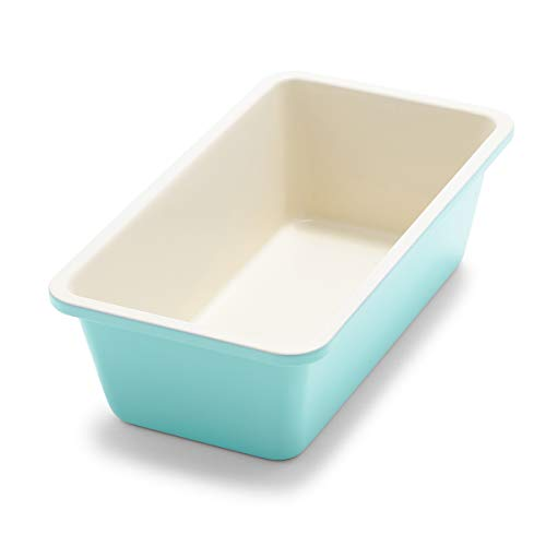 """GreenLife Healthy Ceramic Nonstick Turquoise Loaf Pan, 8.5"""" x 4.4"""""""
