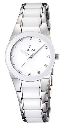 Festina Sra.Ace.Cor.ESF.Blanc. Reloj para Mujer Analógico de Cuarzo con Brazalete de Acero Inoxidable F16534/3