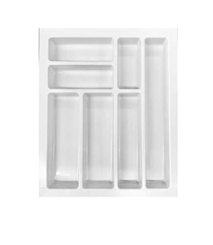 Classic range-couverts pour tiroir en plastique blanc 45 cm-poids : 350–399 mm