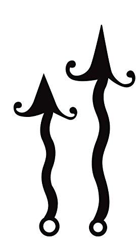 Artemio 77 100 mm ondulés flèches, Aiguilles (Noir)