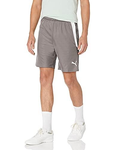 PUMA Men's TeamLIGA Shorts, Smoked Pearl White, Small
