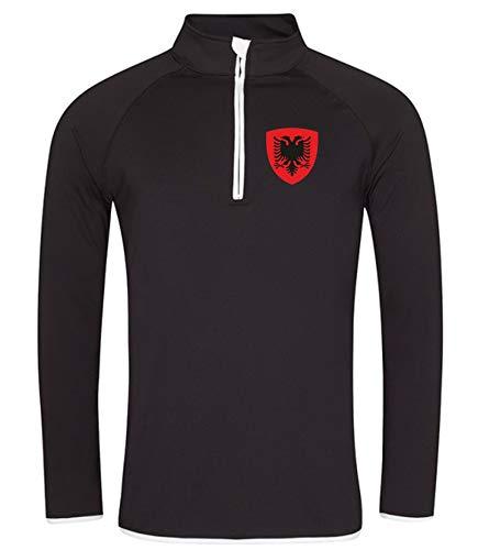 Nation Albanien Sweatshirt Sport Atmungsaktiv UV-Schutz JC SC-W (M)
