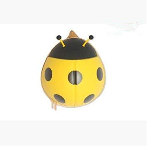 Hanggg rugzak voor kleuterschool, cartoon, 7 sterren, lieveheersbeestjes, driedimensionaal, tas voor kleuterschool giallo