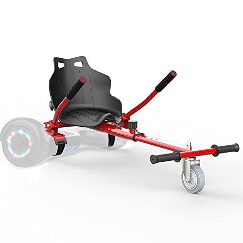 Hoverkart para Patinete Electrico Adulto Hoverboard niños Silla Kart para Self Balancing Scooter Overboard con Asiento 6.5/8 / 8.5/10 Pulgadas (Rojo)
