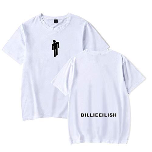 Nueva Camiseta La Cantante Europea y Estadounidense Billie Eilish rodea sin apretar a Las Estrellas la Misma Camiseta Casual de Verano de Manga Corta para Hombres y Mujeres