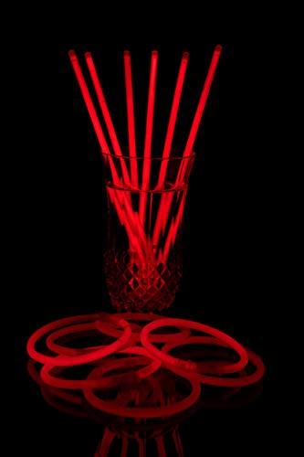 Lot de 100 Bracelets Fluo +100 Connecteurs – qualité Premium – Rouge