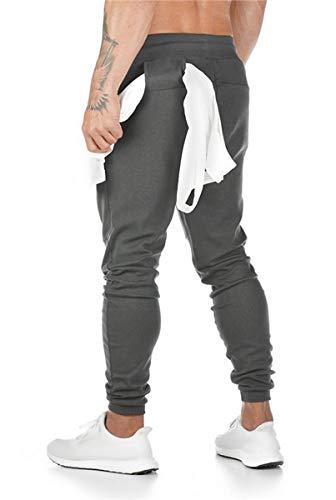 DYDTOP Pantalones Deportivos para Hombre Jogger Pantalones de Deporte para Hombre de algodón Ajustados Jogging Pantalones Ajustados Pantalones