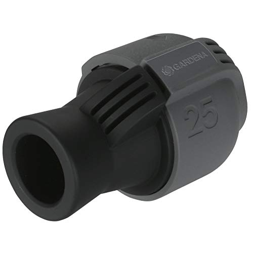 Gardena Sprinklersystem Verbinder: Verbindungsstück für Rohranschluss und für Direktanschluss an Hausinstallation, 25 mm x 3/4 Zoll-Innenewinde, Quick&Easy Verbindungstechnik (2761-20)