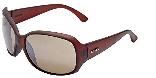 SINNER Erwachsene Sonnenbrille Amos Polycarbonat Bigsize, Matt Braun