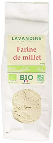 LAVANDINE Farine de Millet Bio sans Gluten 400 g - Lot de 4
