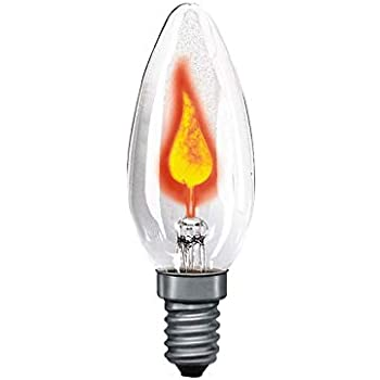 10 Lampe d/écorative flackerkerze x ampoule e14 5 w 230 v 5 w bougie vacillante