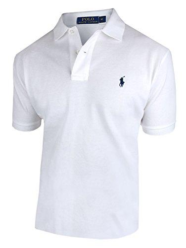 RALPH LAUREN Herren kurzarm Poloshirt Classic Fit C8312 (XL, weiß)