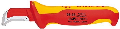 KNIPEX Tools - Dismantling Knife, 1000V Insulated (9855SB)