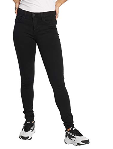 ONLY Damen Onlrain Reg Skinny Cry6060 Noos Jeans, Black Denim, L 30L EU