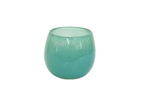 Glasvase / Übertopf Dutz POT md0 H11 D13 jade / türkis Glas Vase