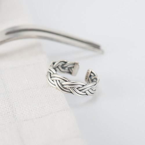 Lozse Anelli regolabili S925 argento europeo e americano retrò sei-filo di torsione anello di corda per inviare le donne e gli amici parenti Regalo di laurea