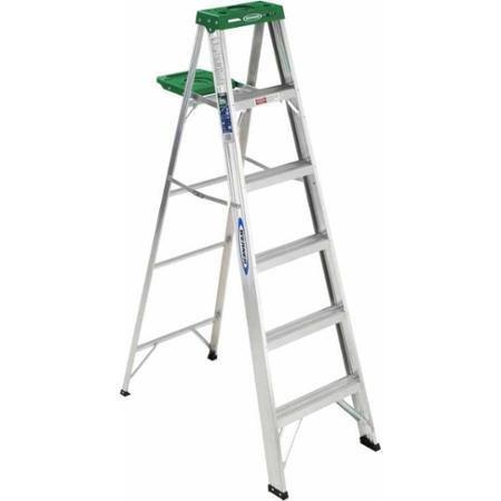 Werner 356 6' Aluminum Step Ladder, Sturdy Molded Paint