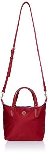 Tommy Hilfiger Poppy Small Tote, Bolsas. para Mujer, Corp Arizona Rojo, One Size