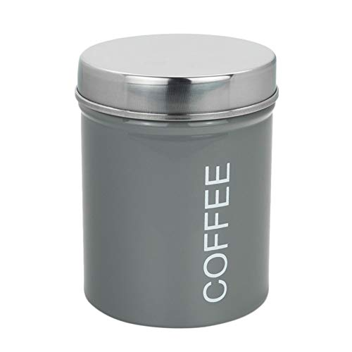 Harbour Housewares Boîte à café métallique - Joint en Caoutchouc sûr - Gris