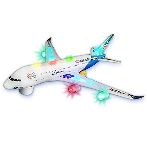 Zviku Kids airplane A380 toy plane self driving bump & go Airbus - Contains Beautiful...
