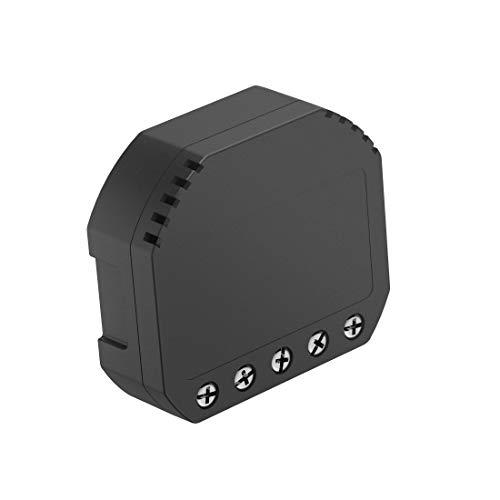 Hama WiFi Schalter zum Nachrüsten von Steckdosen, Lichtschaltern, Lampen (WiFi Relais Modul, ermöglicht Steuerung per Alexa/Google Home/App, Unterputz Einbauschalter) WiFi Switch, Funkschalter