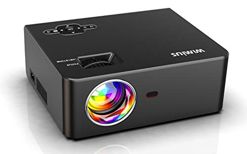 Proyector, WiMiUS Video Proyector de Cine en Casa Full HD Soporta 1080P Audio Hi-Fi Pantalla de 200'', Mini Vídeo Proyector portátil LED 60000 Horas para TV Stick/ PS4/ PC/ HDMI/ VGA/ AV/ USB