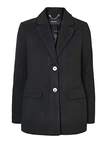 Vero Moda Vmcala Jacket Cappotto di Misto Lana, Nero, L Donna