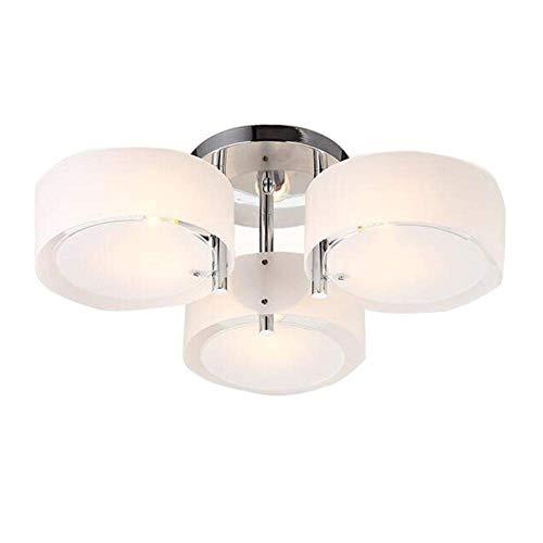 Driekopse hanglamp lamp moderne acryl hanglamp verlichting creatieve persoonlijkheid stijl loft suède lampenkap rond design lamp slaapkamer woonkamer