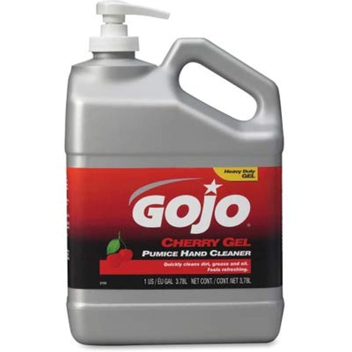 呼吸冷笑する上院Gojo 2358-02 Cherry Gel Pumice Hand Cleaner Cherry 1 gal