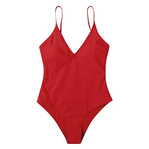 SKAW High Waisted Swimsuit De algodón Cierre con Cordones Camisas para Correr De Entrenamiento FíSico Wine-1 S