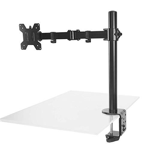 Soporte de brazo para monitor de 17 a 27 pulgadas para monitor de computadora portátil vertical y horizontal para arriba y abajo para TV suspensión giratoria de 360 grados Soporte de soporte de brazo