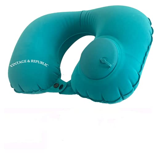 Ultralight Inflatable U Shape Compact Travel Pillows Ergonomic Inflating Pillow for Neck&Lumbar Support While Camp Compressible Neck Travel Pillow Perfect for Backpacking or Airplane Travel
