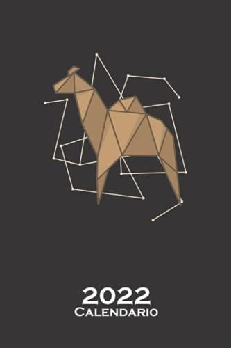 Dromedario de origami en forma de papel Calendario 2022: Calendario anual para Abanicos japoneses de papel plegado