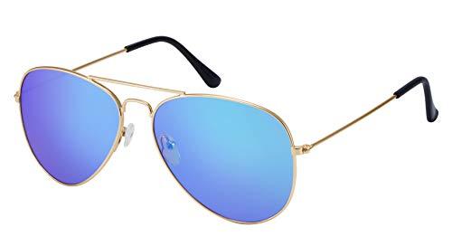 La Optica B.L.M. Zonnebril Unisex UV400 pilotenbril Retro - kleuren, enkelverpakking