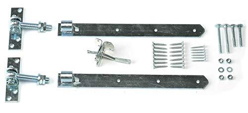 Torbeschläge verzinkt Set mit 2x Torband verstellbar Gartentorfalle von Gartenpirat®