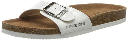 Les P'tites Bombes Rosa, Sandale Femme, Blanc Verni, 36...