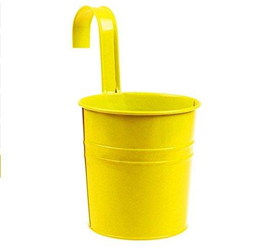 haodou Métal Fer Pots de fleurs hängender Pot de fleurs vase à bulbe suspendues Vase balcon jardin Toit Maison Décoration 10 x 10 x 15,5 cm 10 X 10 X 15.5CM Yellow