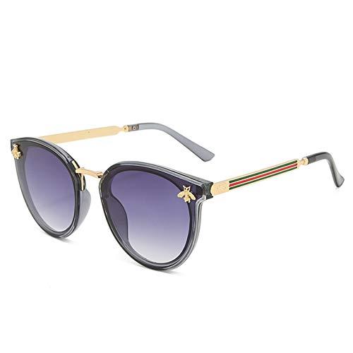 2021 Nuevas gafas de sol abeja roja verde moda uv gafas de sol vintage gafas retro gafas de sol gafas de sol gafas de sol redondo gafas de sol gafas de sol gafas de ojos moda ( Lenses Color : C4 )
