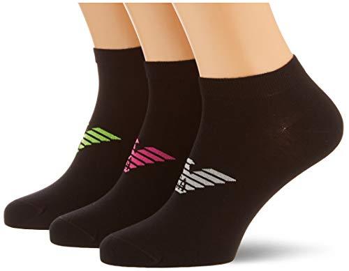 Emporio Armani Underwear mens Shoe Socks Set 3Pack Casual, Black/Black/Black, M