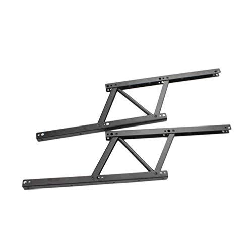 JICHUIO Herrajes mecánicos para bisagras, con resorte, marco de escritorio de pie, mesa elevadora plegable, marco elevador de mesa de centro, 380 mm