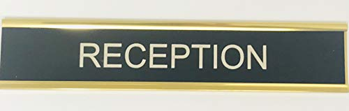 Plaque porte Nom personnalisable - Support en métal argenté - Gravure stratifiée 203 x 37,5 mm, Vinyle auto-adhésif, Red, 254 x 54mm 10\