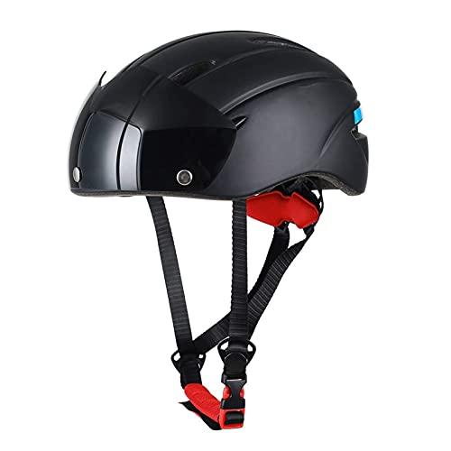 Casco de bicicleta con gafas magnéticas extraíbles, sombrero deportivo, 7 ventilaciones, tamaño ajustable Casco de ciclismo de montaña y carretera para hombres adultos / mujeres sudor Unisex Allround