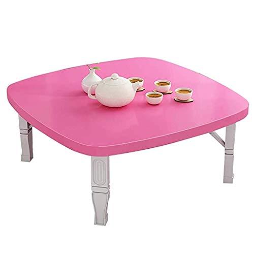 AOIWE Plegable Mesa, Cuadrado Mesa de Comedor/de Estilo japonés Mesa Baja/Tabla Estudio/Escritorio pequeño, for Tatami Dormitorio Mirador Tabla, H35cm, 5 Colores