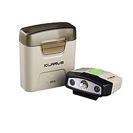 klarus HC5 Lampe Frontale Casquette Rechargeable à LED 120 lumens avec étui de Chargement, capteur de contrôle…