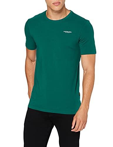 G-STAR RAW Slim Base Camiseta, Verde (Bright Laub C723-a914), L para Hombre