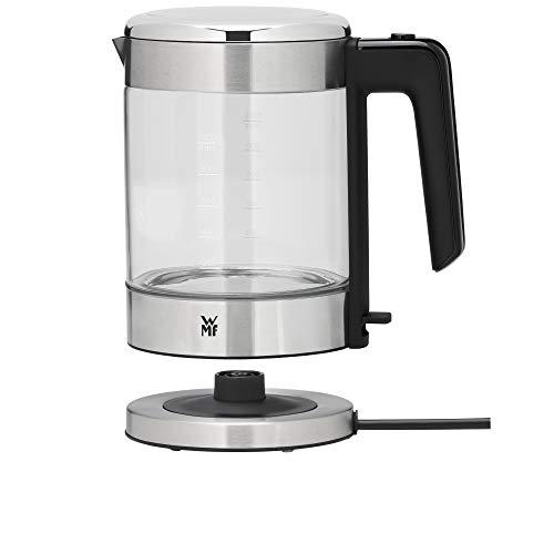 WMF Küchenminis Glas-Wasserkocher (1900 Watt, 1,0 l, kabellos, Wasserstandanzeige, Kalk-Wasserfilter, Kochstoppautomatik) cromargan matt