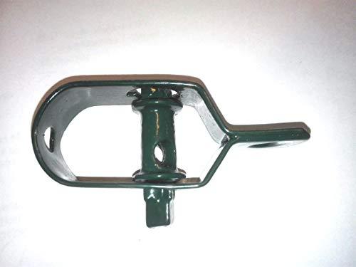 NRV-Outdoorbedarf Drahtspanner, grün kunststoffbeschichtet, 80 mm (5 Stück, Grün, Grösse 80 mm, 74 Gramm Einzelgewicht)