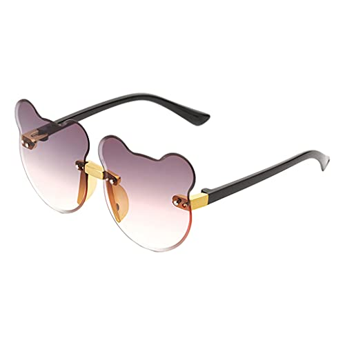 SM SunniMix Preciosas gafas de sol con forma de oreja de gato, adornos para exteriores de playa sin montura, gafas de resina para niños, gafas de fiesta de moda - Púrpura