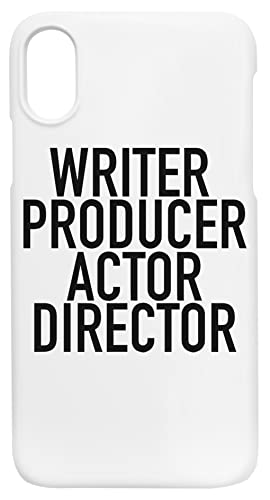Writer Producer Actor Director Everything iPhone X, XS Protector Carcasa de Telefono Protective Phone Case